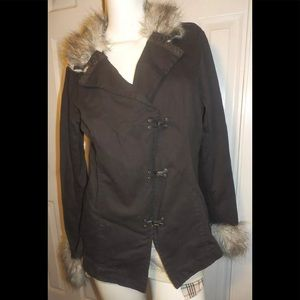 TRIPP NYC Jacket Faux Fur & Hooks JR Sz 2XL Goth